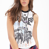 FOREVER 21 The BeatlesTM Muscle Tee Ivory/Black