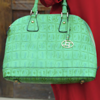 Later, Alligator Purse: Bright Green | Hope's