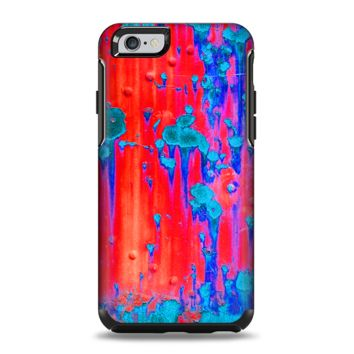 The Bright Red v2 Metal with Turquoise Rust Apple iPhone 6 Plus Otterbox Symmetry Case Skin