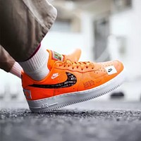 NIKE AIR FORCE 1 JUST DO IT men and women retro wild casual low-top sneakers shoes