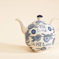 Sass & Belle Blue Willow Floral Tea Pot For One at asos.com