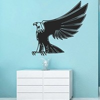 Wall Vinyl Sticker Decal Eagle Lifting His Wings Nursery Room Nice Picture Decor Mural Hall Wall Ki741