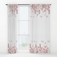 """Window curtains - Single or Double Panels, 50""""x84"""" each, Home, Decor, Bedroom, Kitchen, Style, Pink, White, Gift, Designer, Abstract, Modern"""