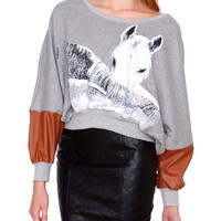 Horse Whisperer Sweatshirt - Gray/Multi