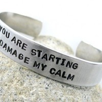 You Are Starting to Damage My Calm - Firefly Serenity Bracelet | foxwise - Jewelry on ArtFire