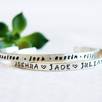 Personalized Jewelry For Mom, Stamped Jewelry For Mom