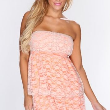 Neon Orange Beige Floral Lace Sexy Dress @ Amiclubwear sexy dresses,sexy dress,prom dress,summer dress,spring dress,prom gowns,teens dresses,sexy party wear,women's cocktail dresses,ball dresses,sun dresses,trendy dresses,sweater dresses,teen clothing,eve