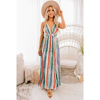 Do It With Style Striped Maxi Dress (Multi)