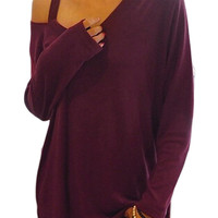 Strapless Long Sleeve T-shirt