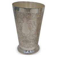 Silver-Plated Engraved Mint Julep Cup, Assorted Sets of Barware Glasses