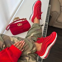 Nike Air Max 97 Red Sneakers Sport Shoes