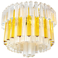 Large 1960s Murano Glass Chandelier