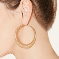 Spring Hoop Earrings