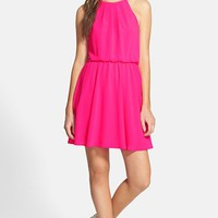 Junior Women's Lush Blouson Chiffon Skater Dress,