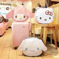 Kawaii Cartoon My melody Hello Kitty Cinnamoroll Dog Backpack Handbag Travel bags Soft Animals doll Kids Girls Birthday Gifts