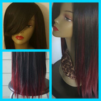 Lace front, full wig with side bang