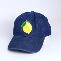 It's By Sam Lemon Denim Baseball Cap