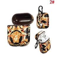 VERSACE Hot Sale Fashionable AirPods Bluetooth Wireless Earphone Case Protector (No Headphones) 2#
