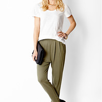 Knit Pleat Front Trousers