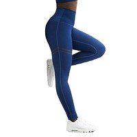 2018 Women Pants Activewear High Waist Fitness LeggingsFashion Patchwork Workout Legging Stretch Slim Sportswear Jeggings