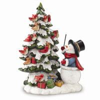 Josephs Studio Snowman with Bird Choir Figurine - Perfect Christmas Gift