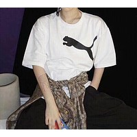 Puma Trending Women Men Stylish Big Logo Print Short Sleeve T-Shirt Top I-XMCP-YC