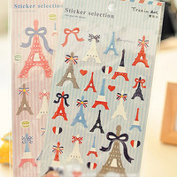Paris Eiffel Tower Deco stickers 2 Sheets SS251
