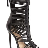 """Women's Vince Camuto 'Barbara' Strappy Caged Leather Sandal, 4 3/4"""" heel"""