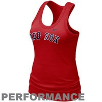 Nike Boston Red Sox Ladies Red Dri-FIT Cotton Racerback Performance Tank Top