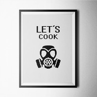 Let's Cook Word Art Poster