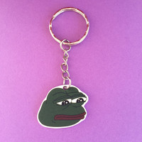 Pepe The Frog Meme Keychain