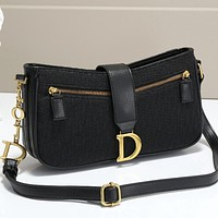 DIOR Women Leather Satchel Crossbody Handbag Shoulder Bag