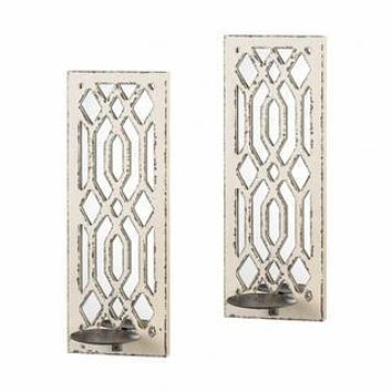 Candle Wall Sconces Deco Mirror Wall Sconce Set