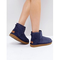 UGG Classic Mini Navy  Fashion Wool Snow Boots