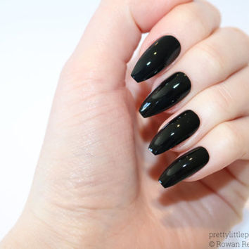 Black coffin nails, Nail designs, Nail art, Nails, Stiletto nails, Acrylic nails, coffin nails, Fake nails, False nails