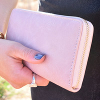 Vegan Leather Wallet Rose