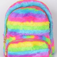 2018 Furry Rainbow Backpack