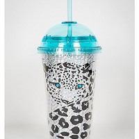Cheetah Holographic Cup with Straw - Spencer's