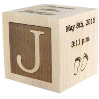 Wooden Baby Block, Baby Gifts, Shower Gift, Newborn Gifts, Laser Engraved Gifts, Personalized Baby Gifts