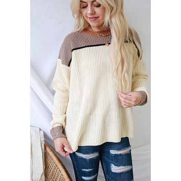 Loved By You Sweater - Cream