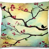 Artistic Couch Pillow   Hillary Doggart-Greer   Primavera   DiaNoche Designs