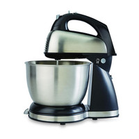 Electric Hand Mixer Bowl w Stand Hamilton Beach 6 speed Detachable Hand Held NEW