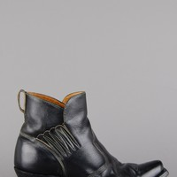 ACME Winged Western Leather Ankle Boots