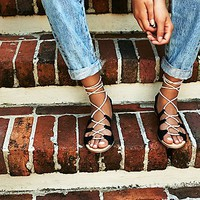 FP Collection Womens Marrakesh Lace Up Sandal