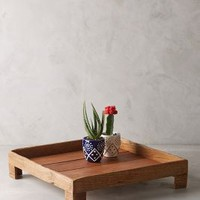 Reclaimed Wood Tray by Anthropologie in Brown Size: