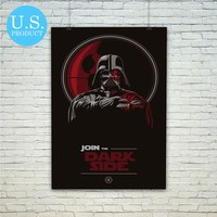 Darth Vader Join The Dark Side Poster Print Wall Decor Canvas Print - piegabags.com