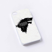 Game of Thrones House Stark Wolf iPhone 4/4S, 5/5S, 5C,6,6plus,and Samsung s3,s4,s5,s6