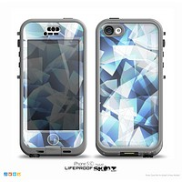 The Abstract Blue Overlay Shapes Skin for the iPhone 5c nüüd LifeProof Case