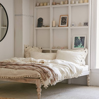 Bohemian White Platform Bed   Urban Outfitters