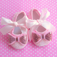 Baby Girl Clothes newborn baby girl Shoes pink Newborn Headband with Bow Baby Girl Headband with Bow - PINK